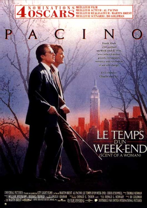Scent of a Woman - French Movie Poster