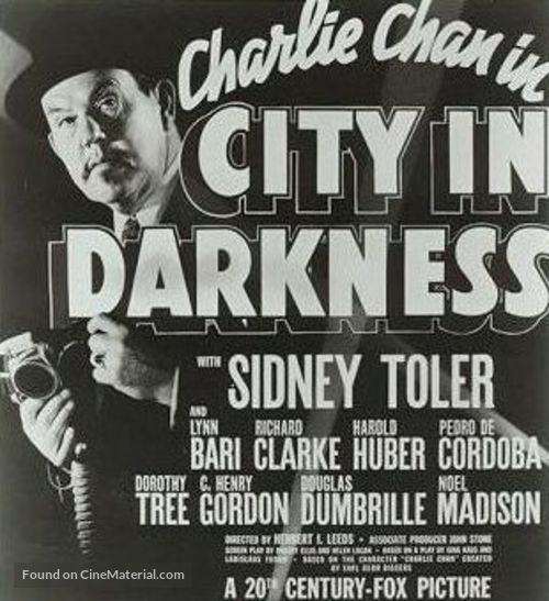 Charlie Chan in City in Darkness - poster