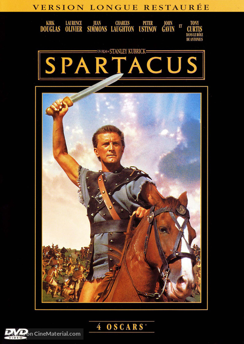 Spartacus - French DVD movie cover