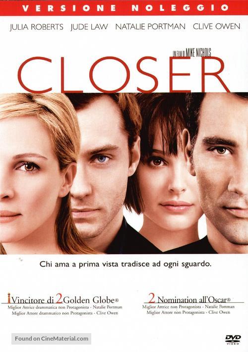 Closer - Italian Movie Cover