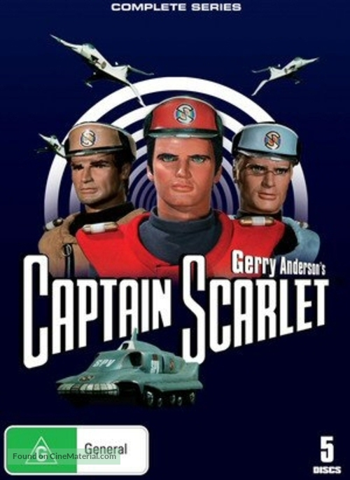 """Captain Scarlet and the Mysterons"" - Australian DVD movie cover"