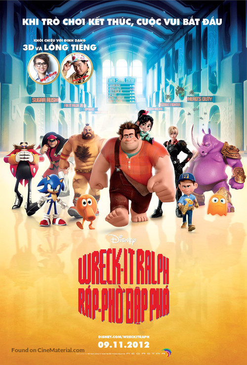 Wreck-It Ralph - Vietnamese Movie Poster