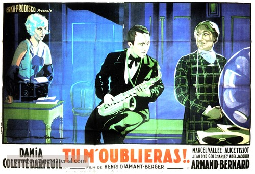 Tu m'oublieras - French Movie Poster