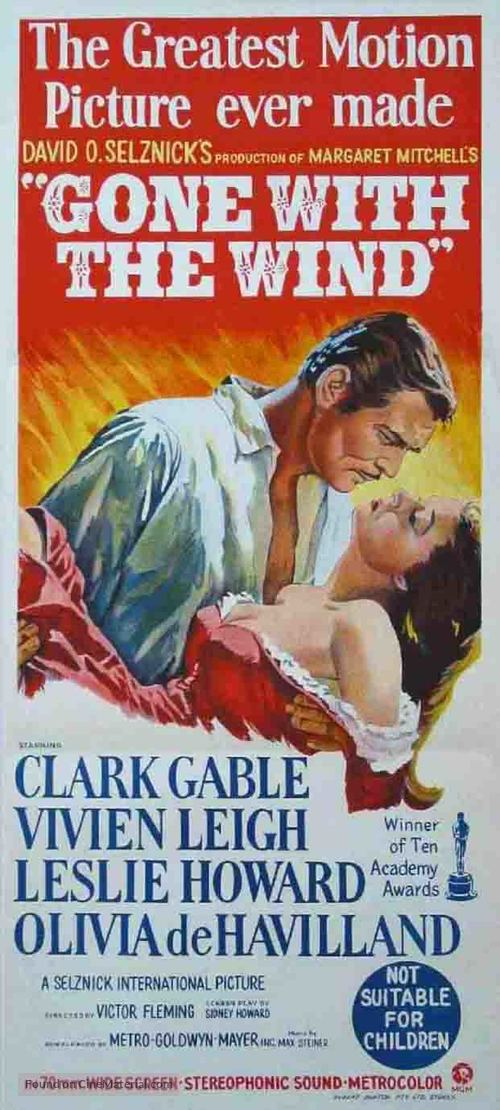 Gone with the Wind - Australian Movie Poster