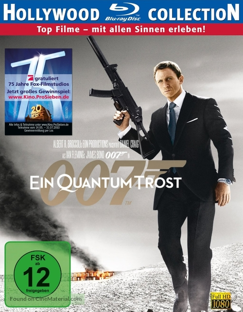 Quantum of Solace - German DVD movie cover