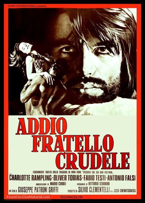 Addio, fratello crudele - Italian Movie Poster