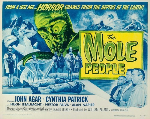 The Mole People - Re-release movie poster