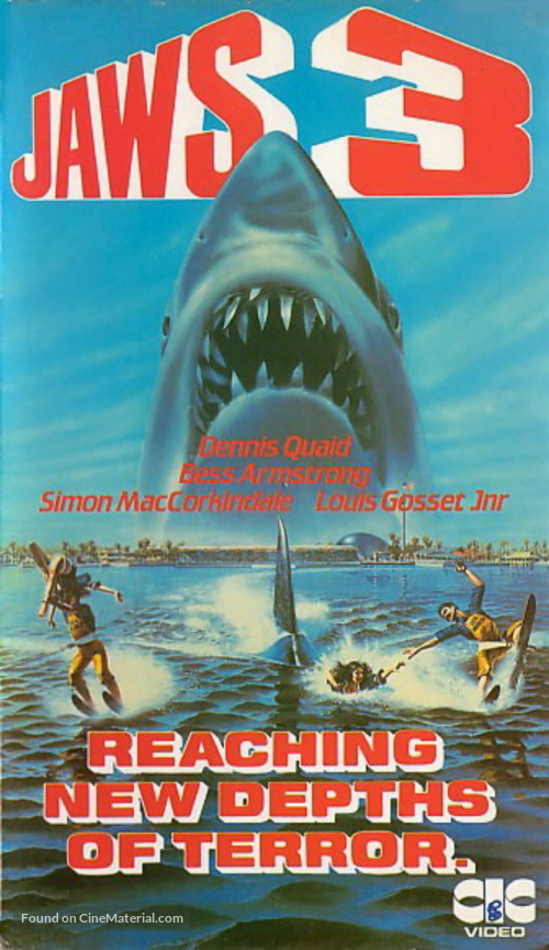 Jaws 3D - British Movie Cover