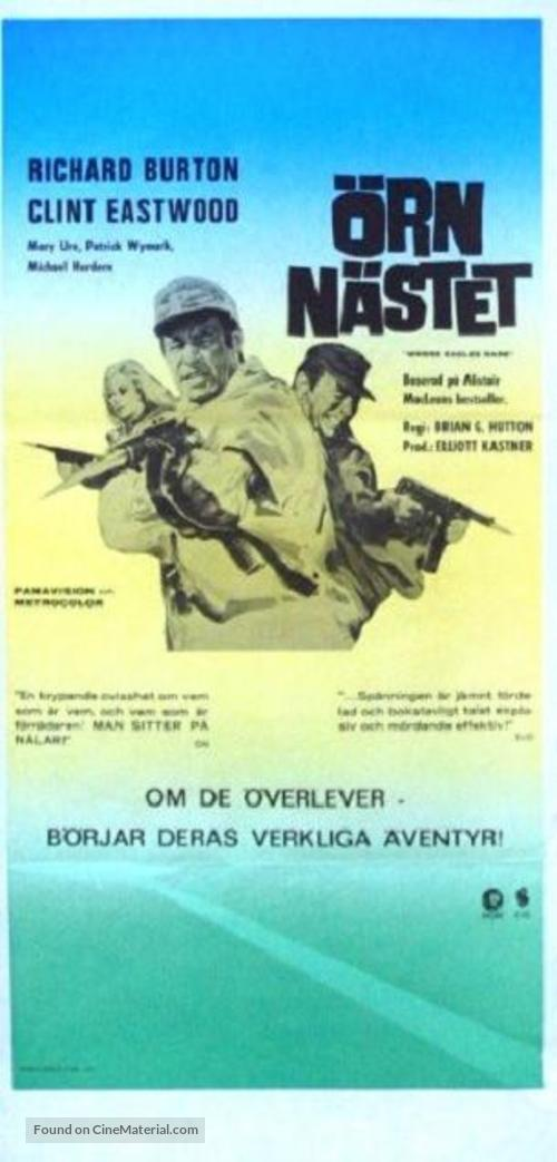 Where Eagles Dare - Swedish Movie Poster