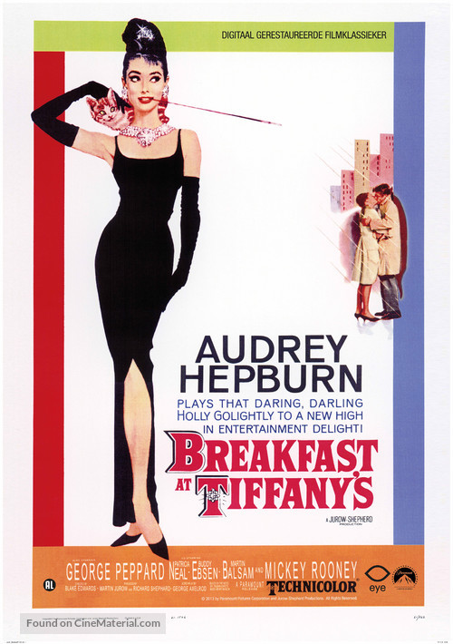Breakfast at Tiffany's - Dutch Re-release movie poster