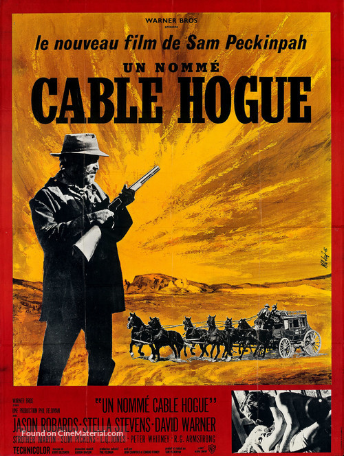 The Ballad of Cable Hogue - French Movie Poster