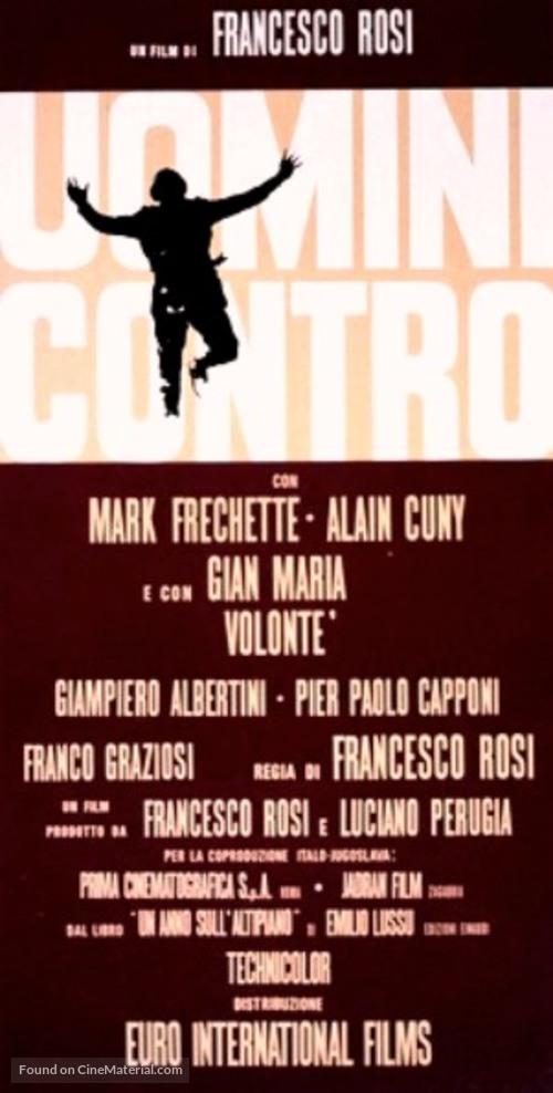 Uomini contro - Italian Movie Poster