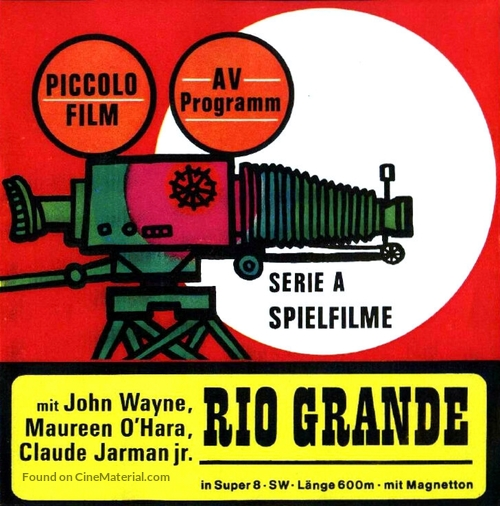 Rio Grande - German Movie Cover