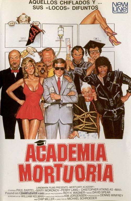 Mortuary Academy - Spanish DVD movie cover