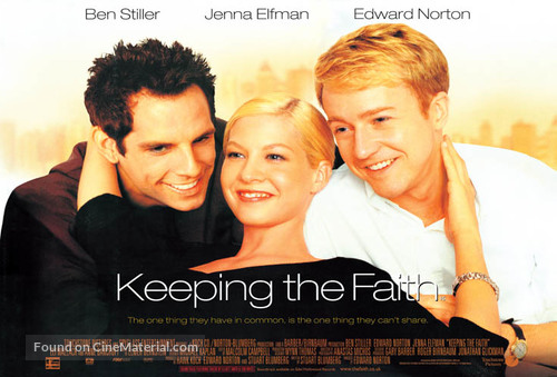 Keeping The Faith - British poster