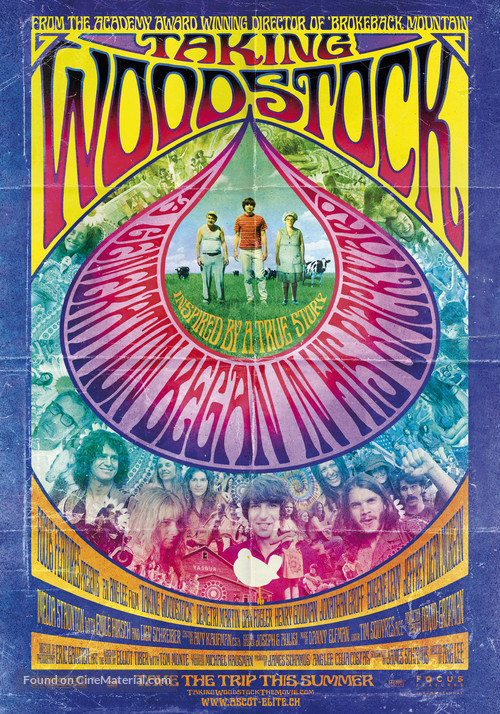 Taking Woodstock - Swiss Movie Poster
