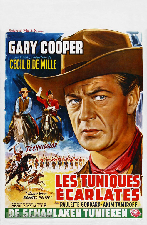 North West Mounted Police Belgian movie poster