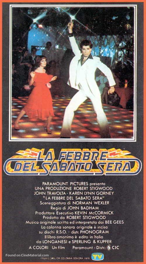 Saturday Night Fever - Italian Movie Cover