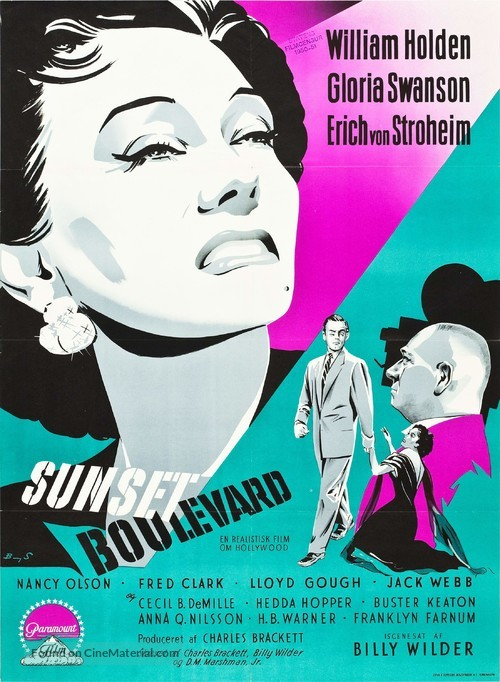 Sunset Blvd. - Danish Movie Poster