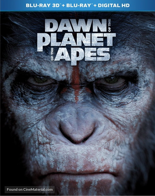 Dawn Of The Planet Of The Apes 2014 Blu Ray Movie Cover