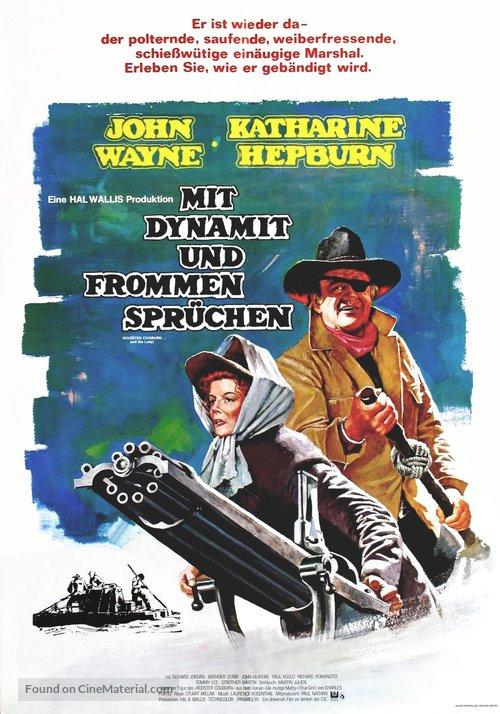 Rooster Cogburn - German Movie Poster