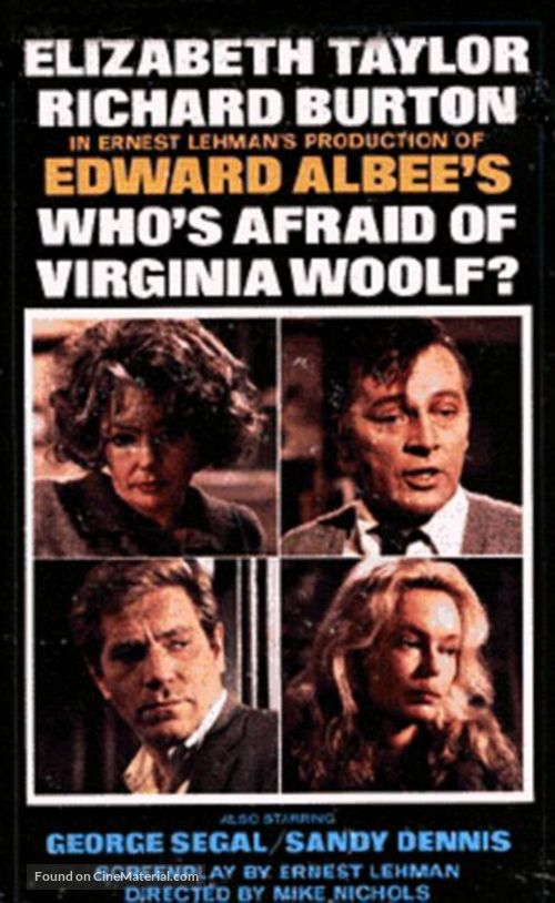 whos afraid of virginia woolf A classic drama by edward albee may 18 – june 3, 2018 intensely witty, consistently entertaining and completely absorbing when edward albee died in 2016, he was the last representative of an american playwriting tradition that had begun with eugene o'neill and included such giants as arthur miller and tennessee williams, all playwrights.