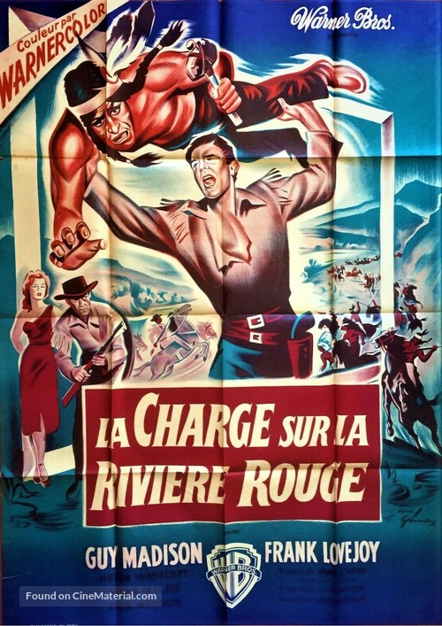 The Charge at Feather River - French Movie Poster