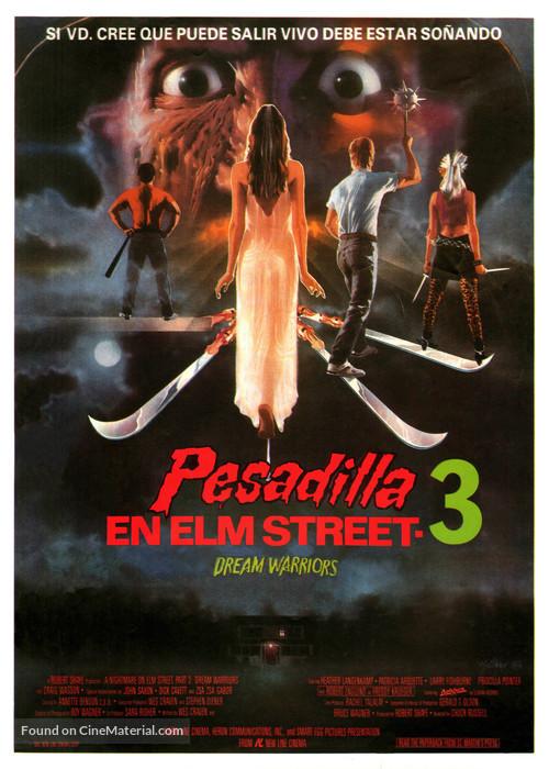 A Nightmare On Elm Street 3: Dream Warriors - Spanish Movie Poster