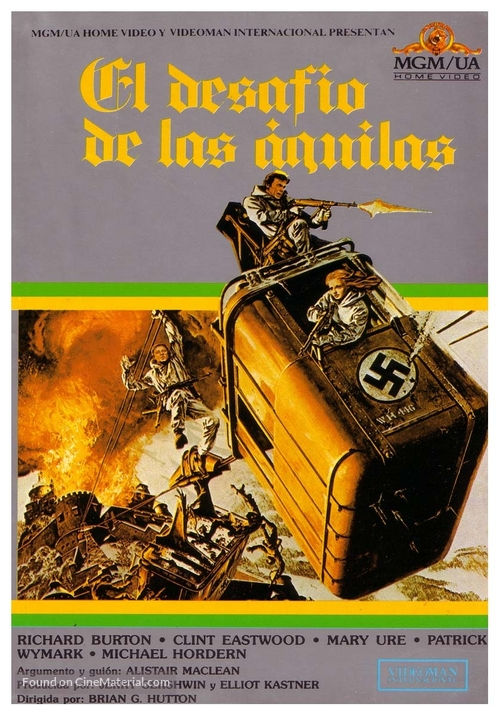 Where Eagles Dare - Spanish VHS cover