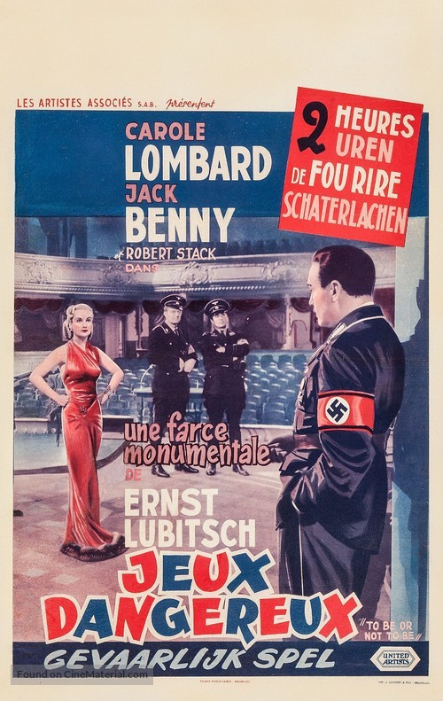 To Be or Not to Be - Belgian Movie Poster