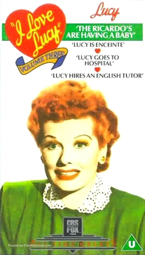 """""""I Love Lucy"""" - British VHS movie cover"""