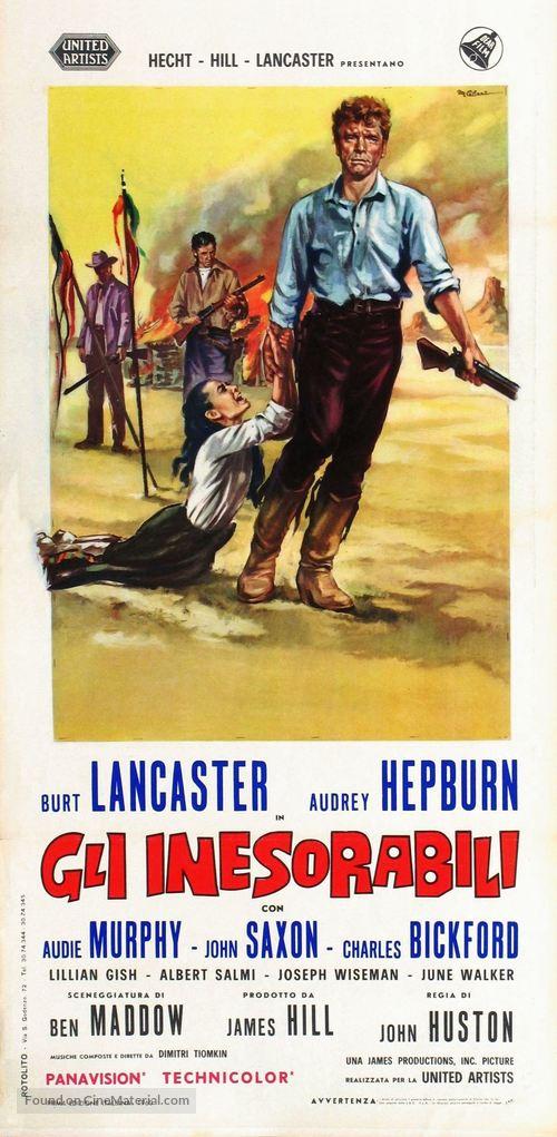 The Unforgiven - Italian Movie Poster