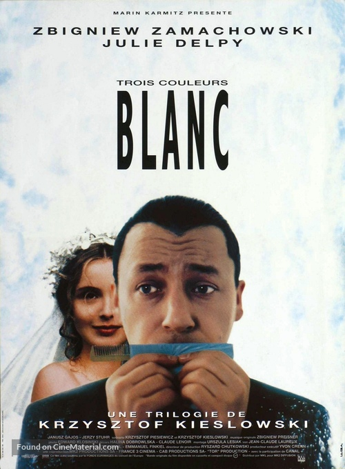 Trois couleurs: Blanc - French Movie Poster