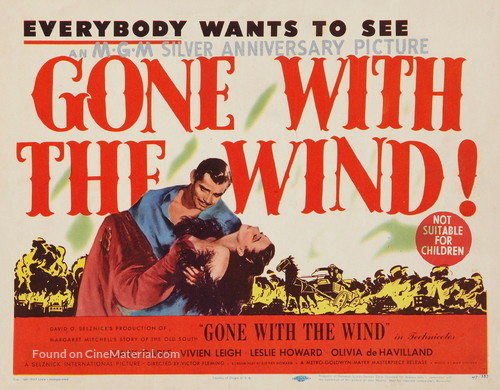Gone with the Wind - Australian Re-release movie poster