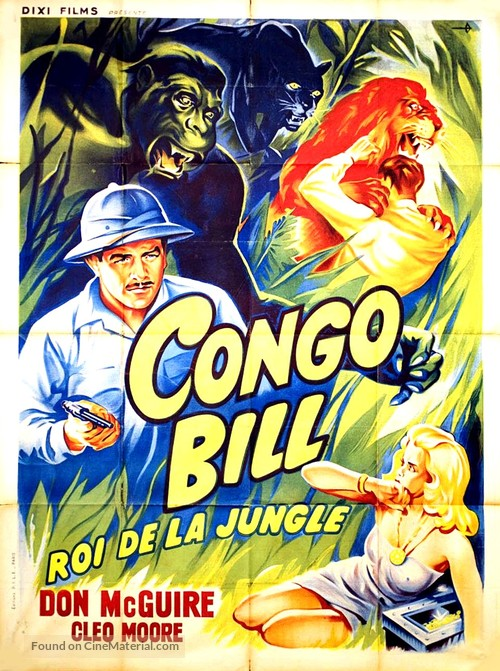Congo Bill - French Movie Poster