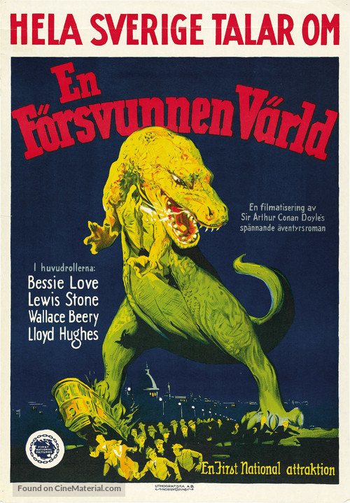 The Lost World - Swedish Movie Poster