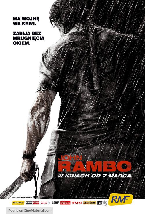 Rambo - Polish poster