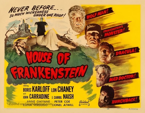 House of Frankenstein - Movie Poster