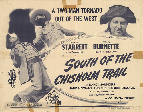 South of the Chisholm Trail - Movie Poster