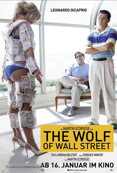 The Wolf of Wall Street - German Movie Poster
