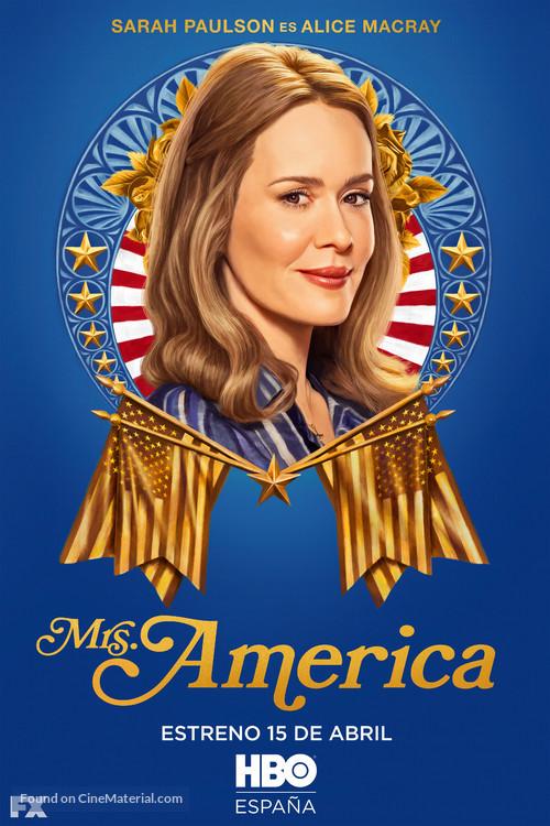 """""""Mrs. America"""" - Spanish Movie Poster"""
