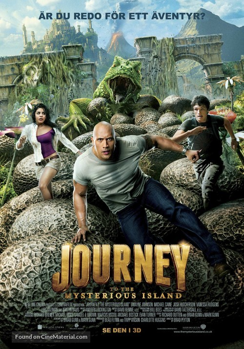 Journey 2: The Mysterious Island - Swedish Movie Poster