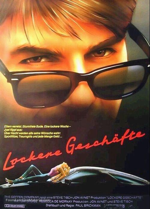 Risky Business - German Movie Poster