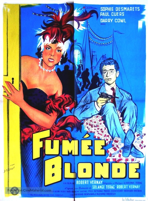 Fumée blonde - French Movie Poster