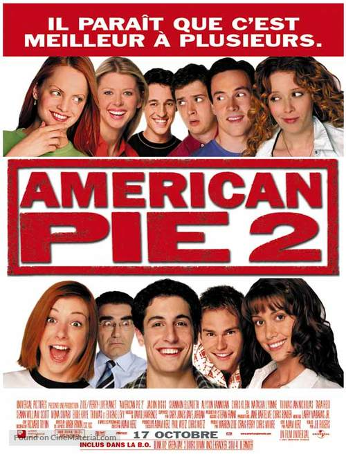 American Pie 2 2001 French Movie Poster