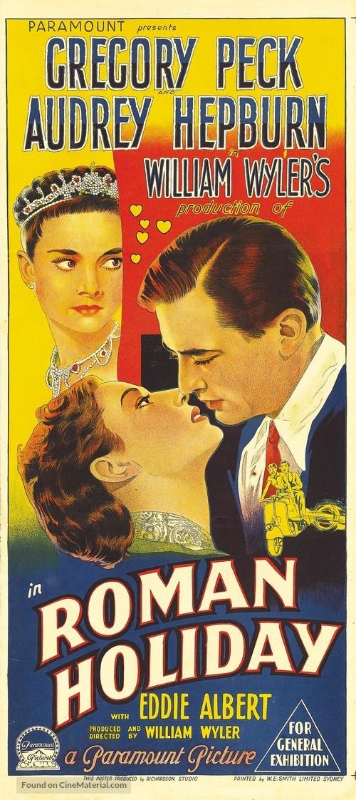 Roman Holiday - Australian Movie Poster