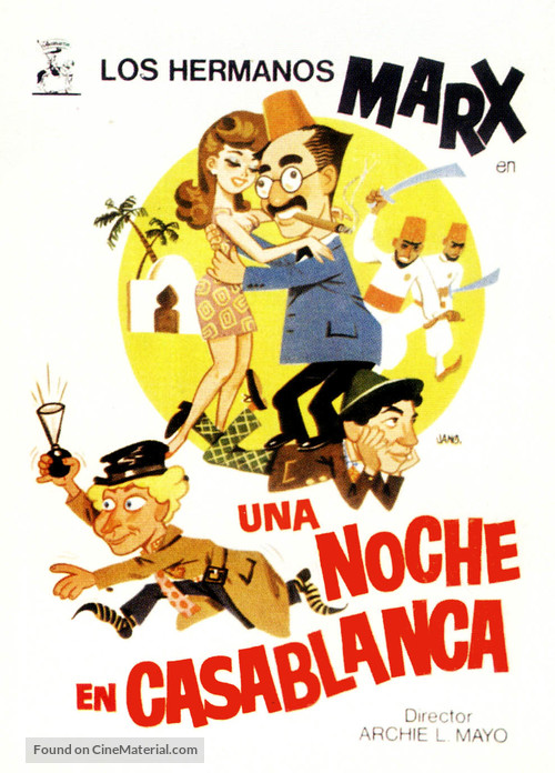 A Night in Casablanca - Spanish Movie Poster