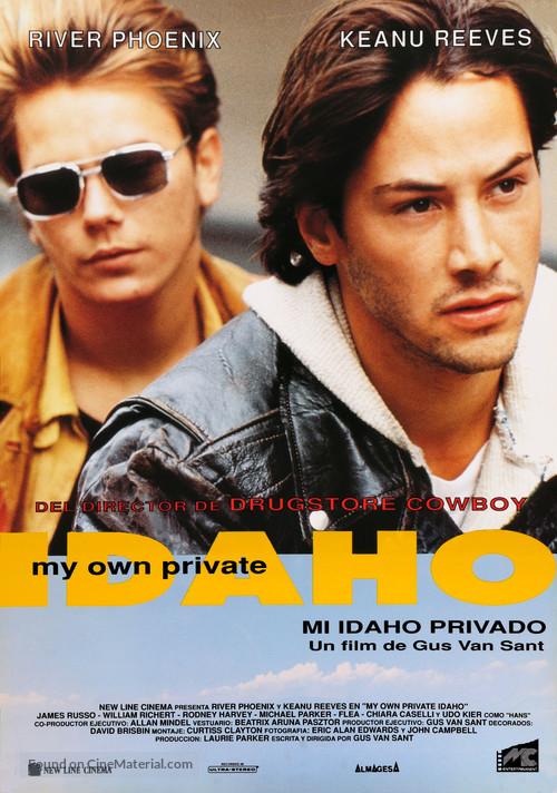 My Own Private Idaho - Spanish Movie Poster