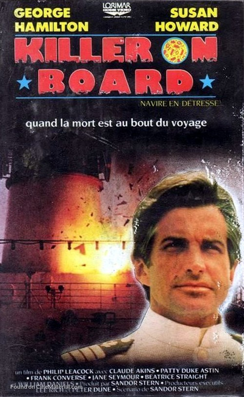 Killer on Board - French VHS movie cover