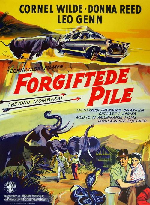 Beyond Mombasa - Danish Movie Poster